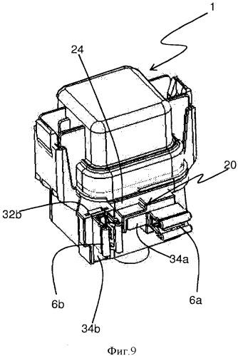 Устройство крепления корпуса реле питания электрического вентилятора на вентиляционном канале, на котором закреплен электрический вентилятор