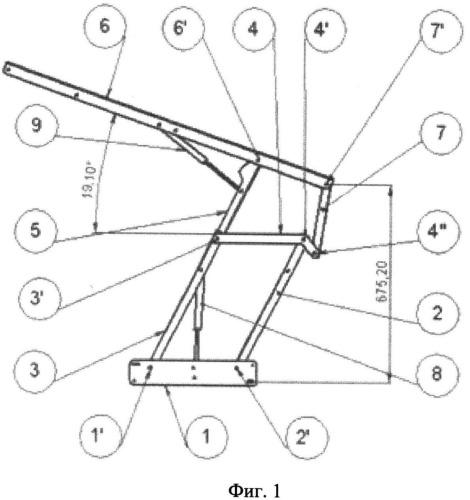 Механизм подъемный кроватный