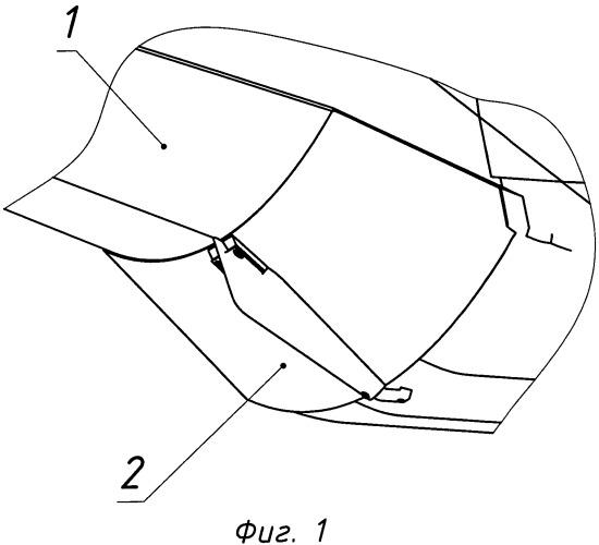 Воздухозаборное устройство с заглушкой воздушно-реактивного двигателя