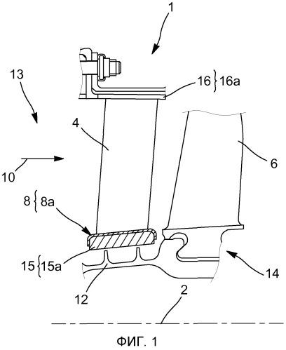 Турбинный двигатель летательного аппарата, его модуль, часть статора для такого модуля, а также кольцо для такого статора