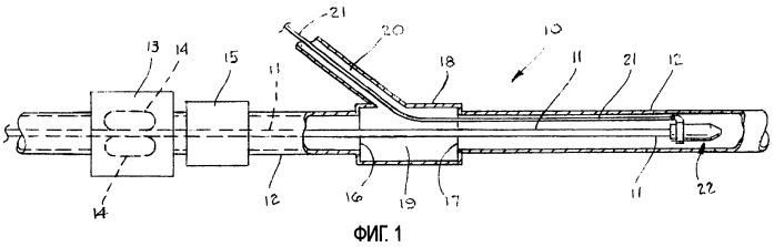 Способ и система для одновременного ввода кабеля и другого изделия в длинную трубу