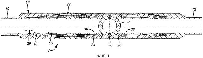 Скважинный шаровой клапан с двунаправленным уплотнением и механическим управлением