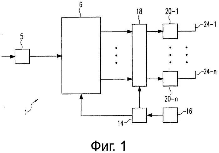 Разделение потоков битов для создания пространственных трактов для передачи на множестве несущих