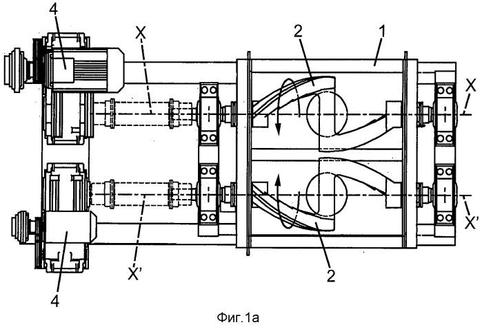 Способ и машина для получения массы, в частности, углеродной массы с целью изготовления электродов для производства алюминия