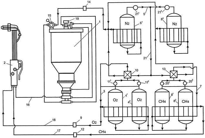 Устройство для кислородно-флюсовой резки