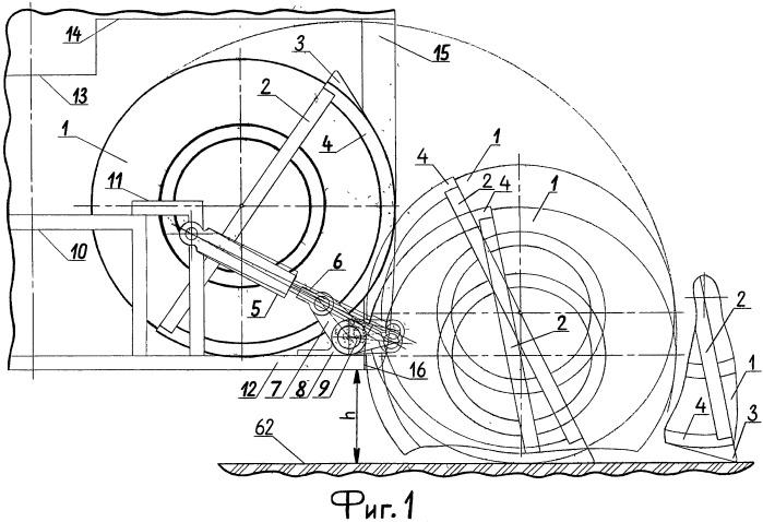 Механизм поднятия и опускания запасного колеса междугородного автобуса