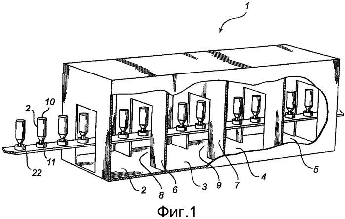 Способ и устройство для поддержания барьера для газового потока между двумя объемами канала