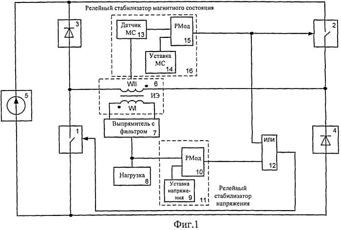Однотактный сдвоенный обратноходовой преобразователь с улучшенными динамическими свойствами