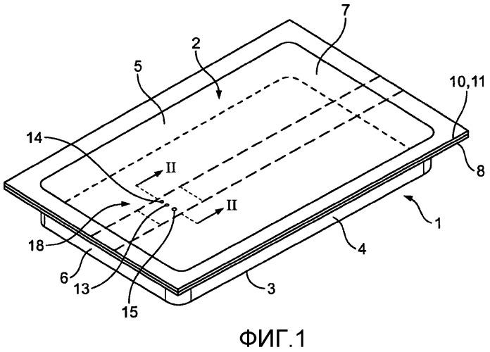 Упаковочный материал со встроенным клапаном сброса давления