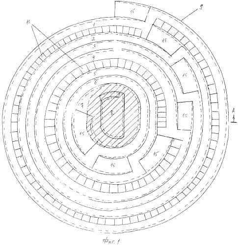 Способ открытой разработки крутопадающих месторождений площадной формы