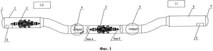 Способ и устройство для управления внутритрубным объектом
