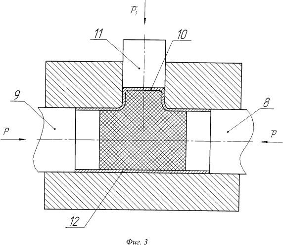 Способ формообразования неравнопроходных тройников из трубной заготовки