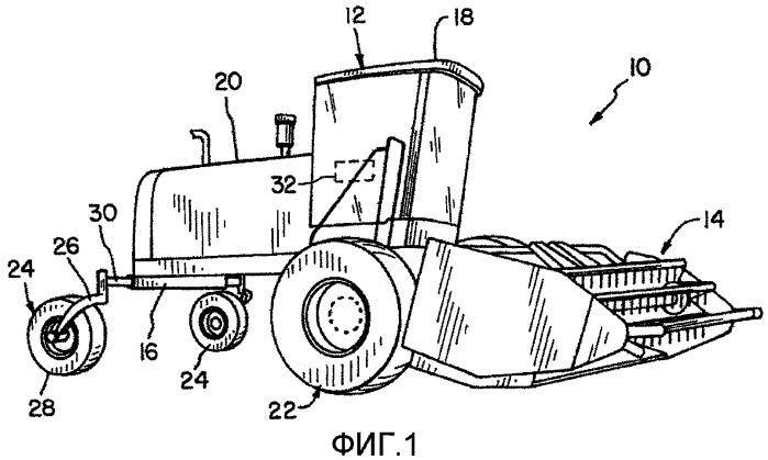 Сельскохозяйственная уборочная машина с запуском изменения направлений движения ленточной платформенной жатки, гидравлический рычаг и способ управления работой платформенной жатки