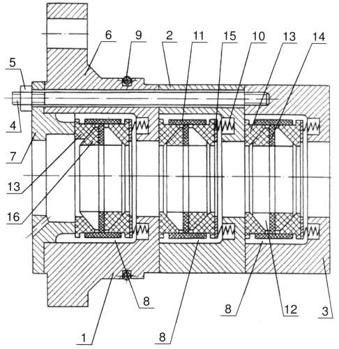 Уплонительное устройство низких ступеней компрессора