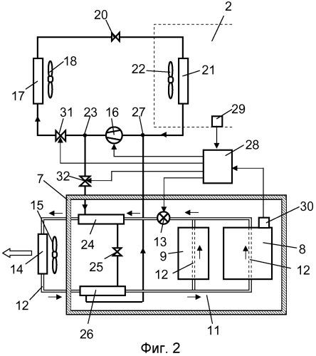 Устройство для поддержания необходимой температуры батареи в транспортном средстве