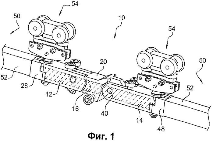 Сцепное устройство со встроенными во фрикционную поверхность качения соединительными элементами, сцепка и конвейер