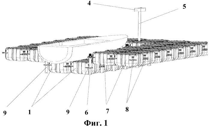 Плавучая парковочная платформа