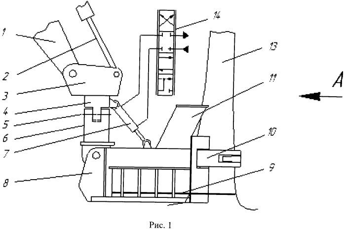 Захватно-срезающее устройство лесозаготовительной машины
