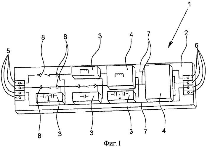 Фильтр, прежде всего для фильтрации электромагнитных помех