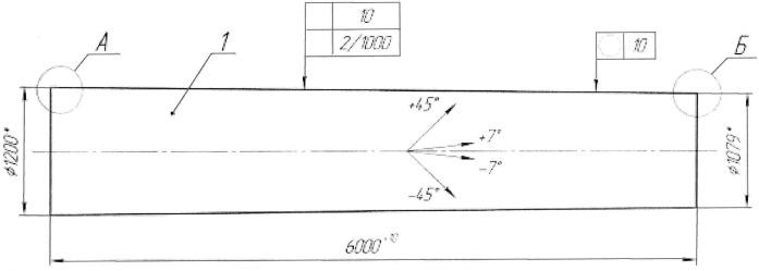 Длинномерный силовой конструкционный элемент типа вертикальной колонны из полимерного композиционного материала