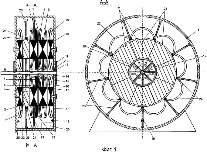 Аксиальный бесконтактный двигатель-генератор