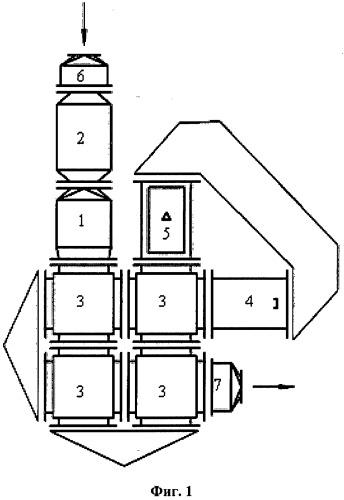 Модульная установка очистки воздуха от газовых выбросов промышленных предприятий