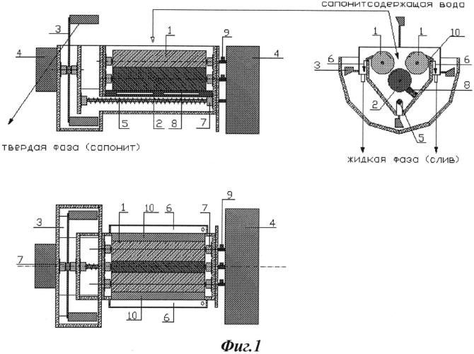 Способ обесшламливания оборотных сапонитсодержащих вод и устройство для его реализации