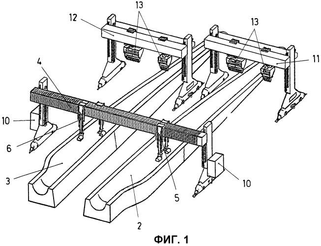 Система для автоматического изготовления лопаток ветряной турбины