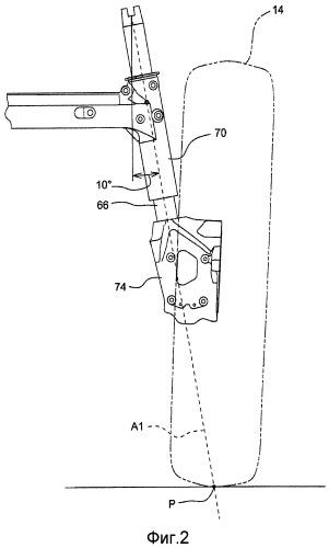 Подвеска высококлиренсного транспортного средства с распорным устройством, устанавливаемым между осью и кронштейном для прикрепления колесной ступицы, для регулирования рабочего клиренса