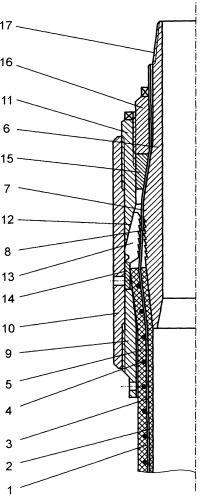 Концевое соединение гибкого эластичного трубопровода