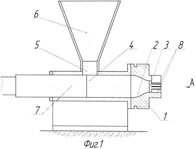 Пресс-инструмент для проходного прессования порошковых материалов