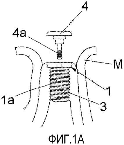 Устройство зубного имплантата, содержащее магнитный временный винт