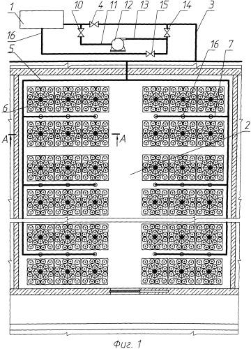 Способ орошения бассейнов выдержки отработавшего ядерного топлива и устройства для его осуществления