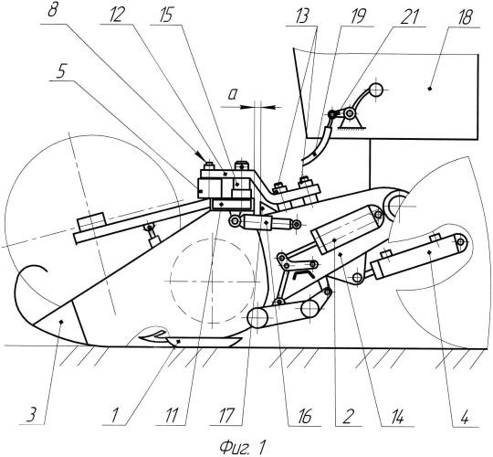 Устройство для автоматического копирования рельефа поля жаткой