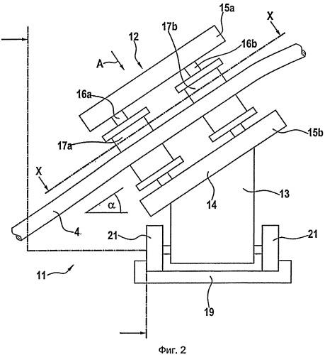 Направляющее канат устройство для канатной лебедки
