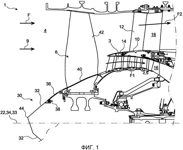 Вращающийся входной обтекатель для турбомашины, содержащий эксцентрично расположенную концевую часть
