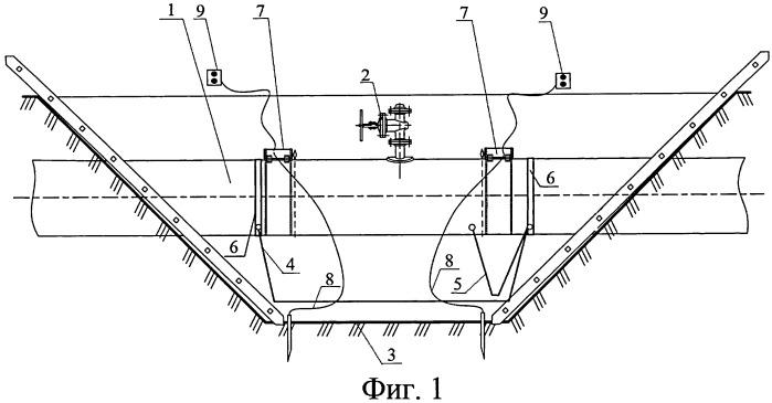 Способ вырезки участка трубопровода