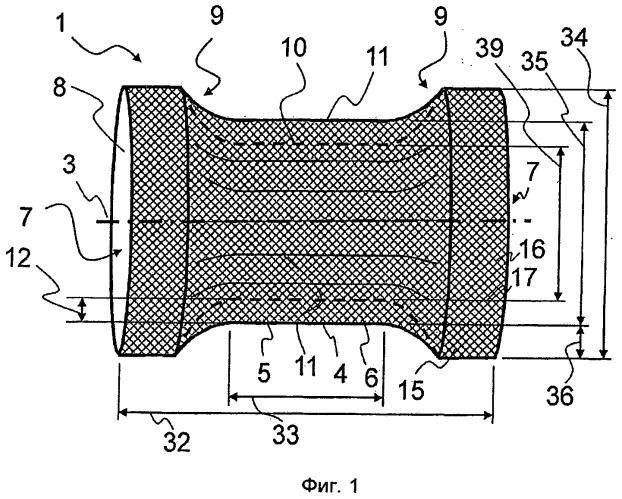 Полое тело для улавливания частиц в выпускном трубопроводе