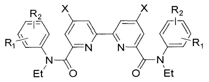 Диамиды 2,2-бипиридил-6,6-дикарбоновых кислот и способ их получения