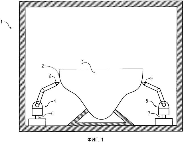 Способ и устройство для сглаживания поверхности конструктивного элемента, в частности, крупных структур