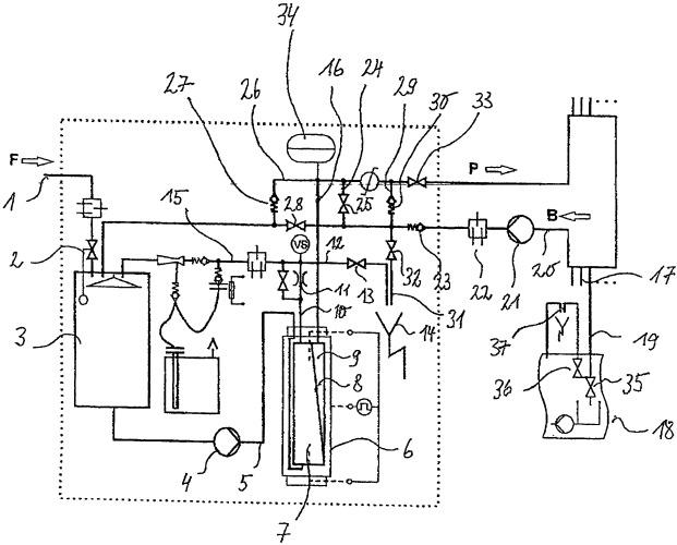 Установка обратного осмоса и способ дезинфицирования трубопроводов установки обратного осмоса