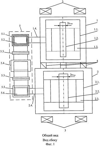Импульсный двухкаскадный моноблочный усилитель мощности свч на амплитронах