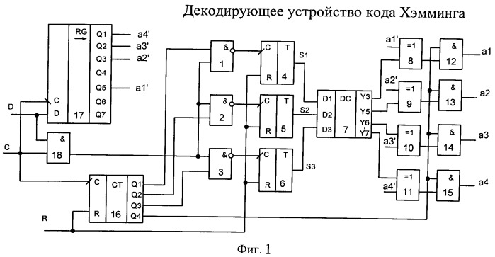 Декодирующее устройство кода хэмминга