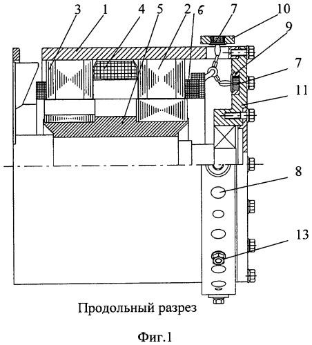 Индукторный генератор с встроенным силовым выпрямителем
