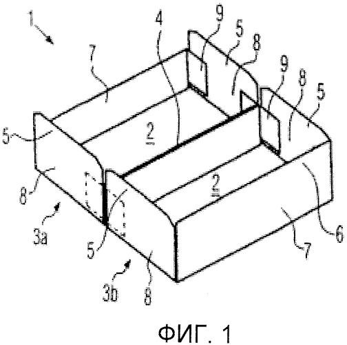 Картонная коробка для упаковки контейнеров наподобие пакетов для напитков, устройство для закрытия упаковки и способ закрытия упаковки