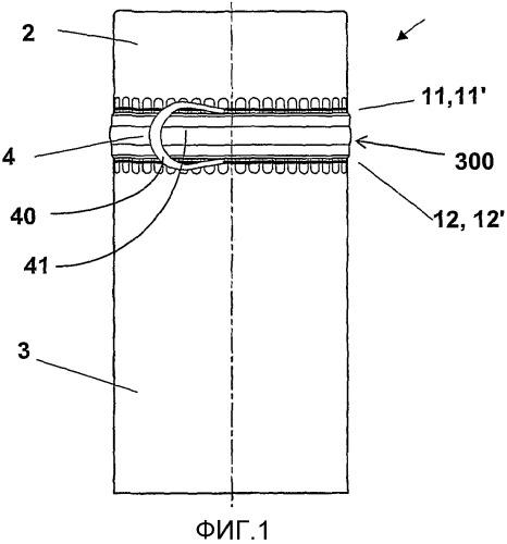 Укупорочная капсула или дополнительная укупорочная капсула с отрывной безопасной лентой и способ ее изготовления