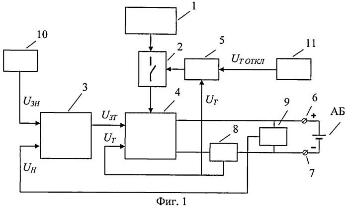 Устройство для зарядки аккумуляторной батареи
