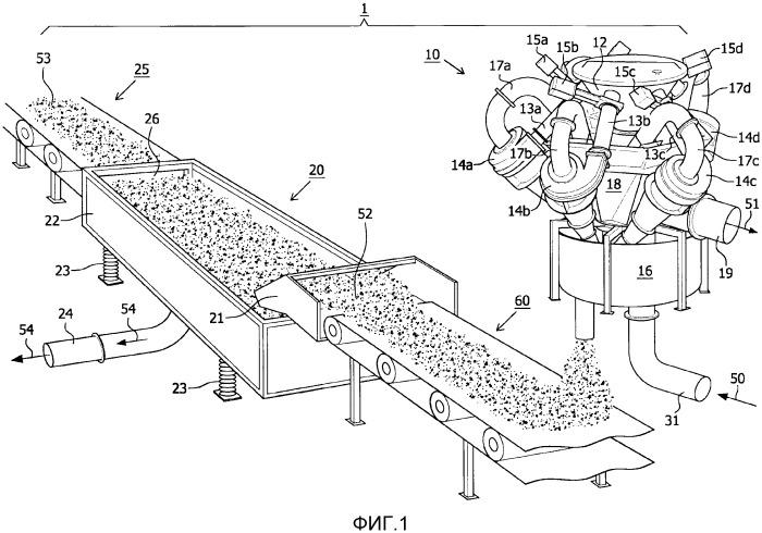 Способ и устройство для обработки грунта выемки, извлеченного с помощью земснаряда