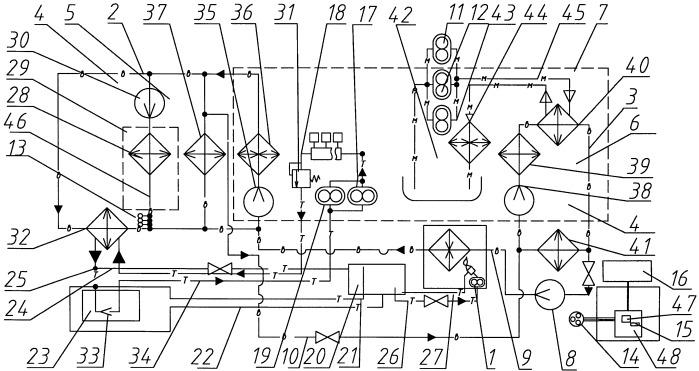 Система для поддержания готовности к запуску двигателя внутреннего сгорания тепловоза