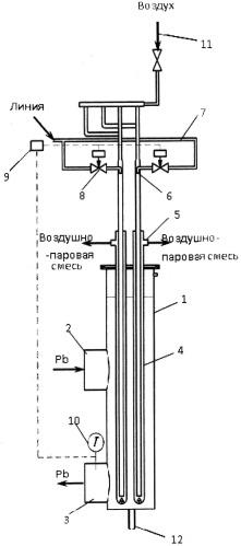 Охладитель расплава жидкометаллического теплоносителя
